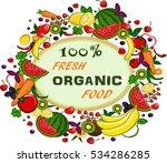 organic fresh food | Shutterstock .eps vector #534286285