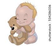 vector illustration funny baby... | Shutterstock .eps vector #534286336