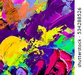hand drawn oil painting.... | Shutterstock . vector #534288526