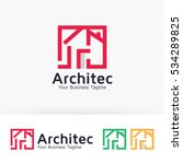 architect house  architecture ... | Shutterstock .eps vector #534289825