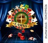 casino night games roulette... | Shutterstock .eps vector #534299026