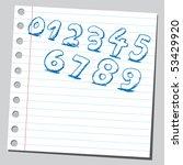 scribble numbers | Shutterstock .eps vector #53429920