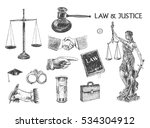 law  justice and police set.... | Shutterstock .eps vector #534304912