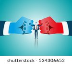 businessman mediate with lawyer ... | Shutterstock .eps vector #534306652