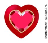 red ruby heart. raster copy. | Shutterstock . vector #534306676
