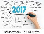2017 happy new year in... | Shutterstock . vector #534308296