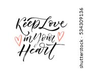 keep love in your heart... | Shutterstock .eps vector #534309136