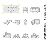 thin line icons set  linear... | Shutterstock .eps vector #534312376