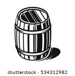 vector black barrel icons on... | Shutterstock .eps vector #534312982