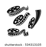 film roll logo vector black... | Shutterstock .eps vector #534313105