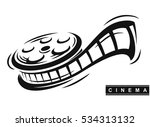 film roll logo vector black... | Shutterstock .eps vector #534313132