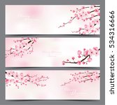 cherry blossom realistic vector ... | Shutterstock .eps vector #534316666
