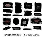 set of black paint  ink brush... | Shutterstock .eps vector #534319348