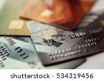 credit cards  close up view...   Shutterstock . vector #534319456