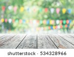 empty wooden table with party... | Shutterstock . vector #534328966