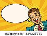 joyful businessman peeking from ...   Shutterstock . vector #534329362
