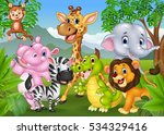 cartoon wild animal in the... | Shutterstock . vector #534329416
