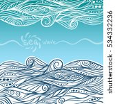 vector vintage and ethnic waves ... | Shutterstock .eps vector #534332236