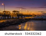 fishing pier at twilight   fort ... | Shutterstock . vector #534332362
