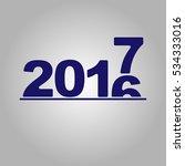 2016 2017 change represents the ... | Shutterstock .eps vector #534333016