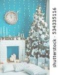 christmas background  texture.... | Shutterstock . vector #534335116