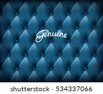 genuine deep blue buttoned... | Shutterstock .eps vector #534337066
