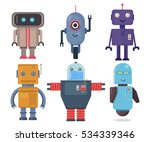 isolated robot set. collection... | Shutterstock .eps vector #534339346