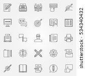copywriting icons set. vector... | Shutterstock .eps vector #534340432