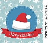 christmas badge with santa hat... | Shutterstock .eps vector #534341152