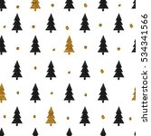 seamless pattern. christmas... | Shutterstock . vector #534341566