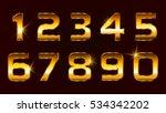 set of gold numbers.vector... | Shutterstock .eps vector #534342202