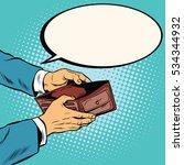empty wallet  no money pop art... | Shutterstock . vector #534344932