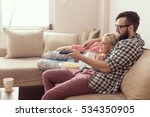 young couple relaxing in their...   Shutterstock . vector #534350905