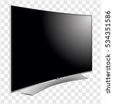 curved tv screen lcd  plasma... | Shutterstock .eps vector #534351586
