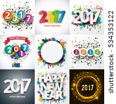 big set of happy new year... | Shutterstock .eps vector #534353122