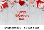 happy valentine's day greeting... | Shutterstock .eps vector #534355405
