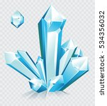 vector blue ice crystals  | Shutterstock .eps vector #534356032