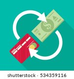 redit card and cash. payment ... | Shutterstock .eps vector #534359116