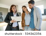 couple with real estate agent...   Shutterstock . vector #534362356