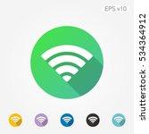 colored icon of wifi symbol... | Shutterstock .eps vector #534364912
