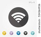 colored icon of wifi symbol... | Shutterstock .eps vector #534364936