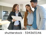 couple with real estate agent... | Shutterstock . vector #534365146