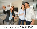 couple with real estate agent... | Shutterstock . vector #534365305