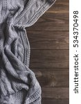 warm knitted crumpled gray... | Shutterstock . vector #534370498