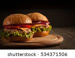 home made hamburger with beef ...   Shutterstock . vector #534371506