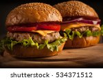 home made hamburger with beef ... | Shutterstock . vector #534371512