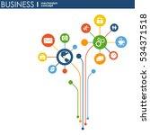 business mechanism concept.... | Shutterstock .eps vector #534371518