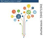 technology mechanism concept.... | Shutterstock .eps vector #534371542