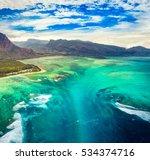 aerial view of the underwater... | Shutterstock . vector #534374716