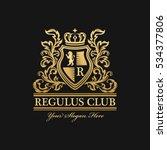 heraldic logo template. vintage ...   Shutterstock .eps vector #534377806